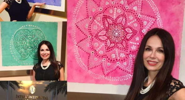 Mandalas of Virtues Collection by Silvia Rosales at INTERCONTINENTAL HOTEL DORAL MIAMI.